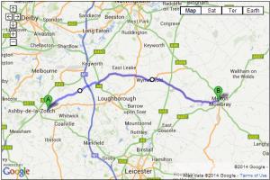 A6006 Ashby-De-La-Zouch to Melton Mowbray
