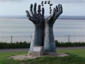 Hand & Molecule Sculpture
