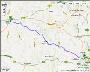 B4204 – Tenbury Wells to Worcester