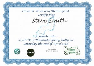 South West Peninsular Rally 2016