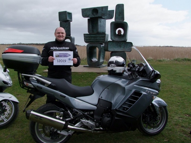 Andy and his Kawasaki GTR1400 at the Family of Man Sculpture
