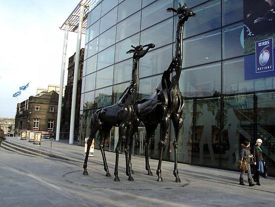 Giraffes Sculpture in Edinburgh