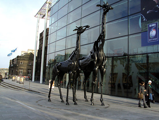 Giraffes Sculpture in Edinburgh