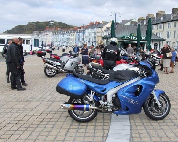 Rig's Triumph Sprint ST in Aberystwyth
