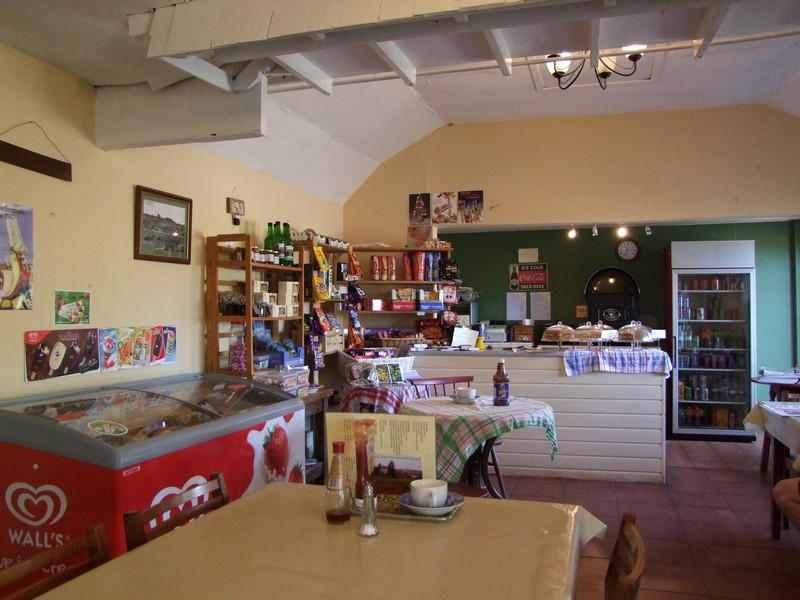 Inside Bringsty Cafe