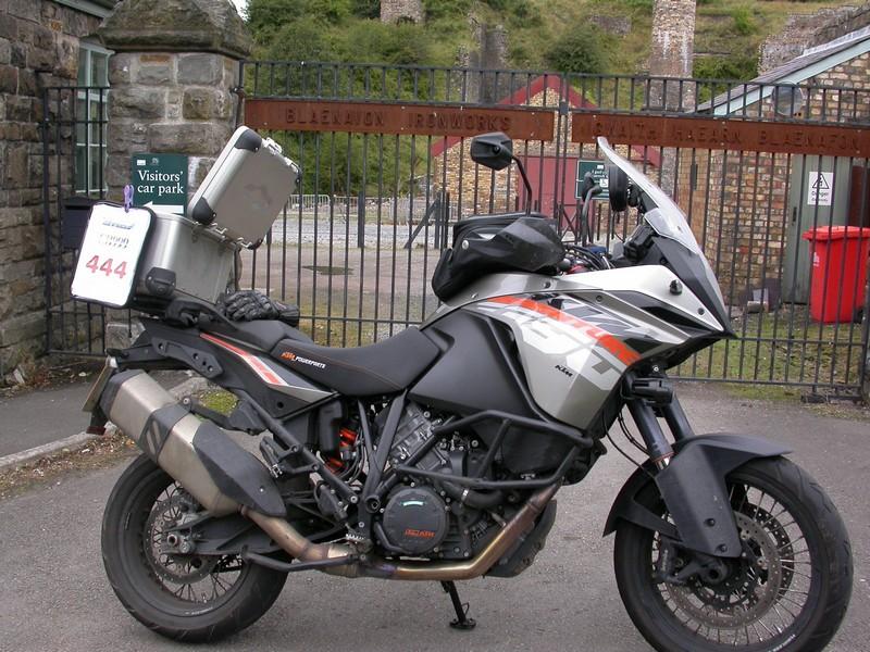 KTM 1190 Adventure at the Blaenavon Ironworks