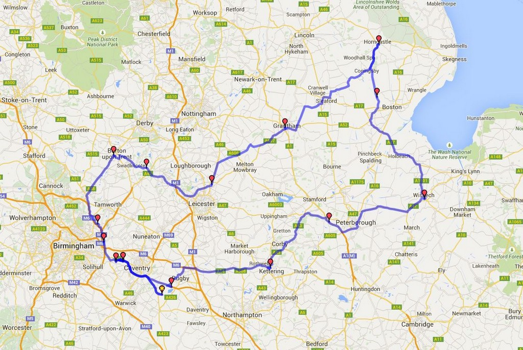 National Road Rally 2015 - Route