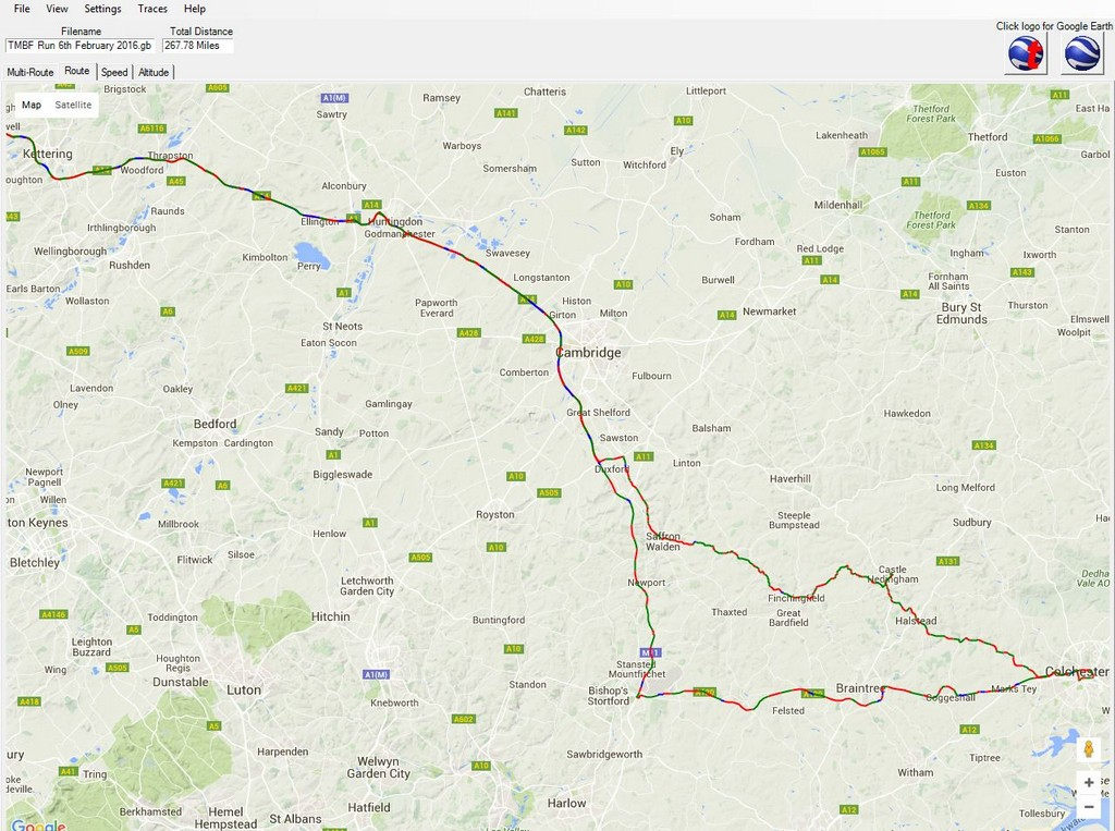 TMBF Run 6th February 2016 - Route