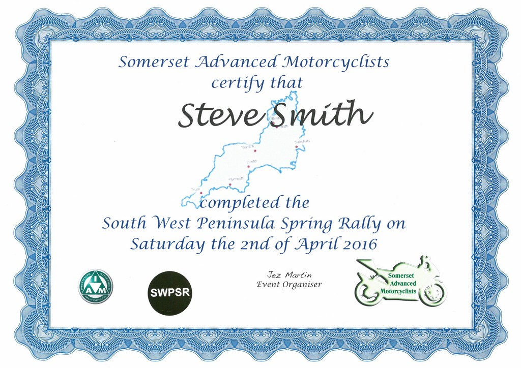 2016 SWPSR Completion Certificate