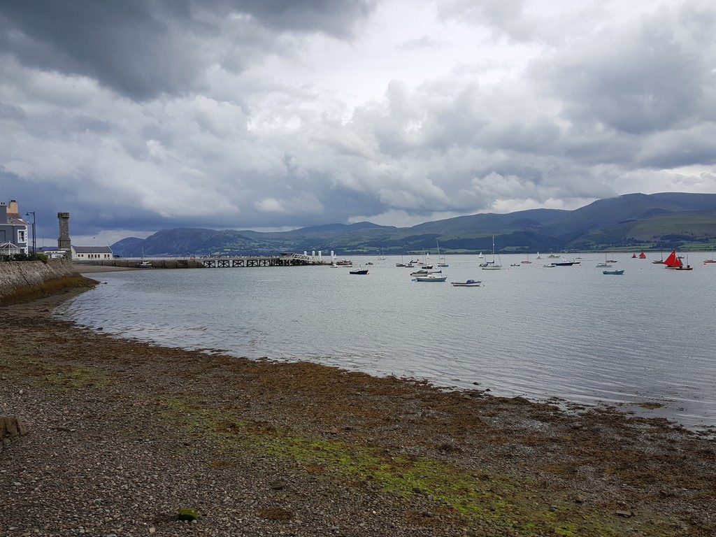 View of the Menai strait from Beaumaris, Anglesey