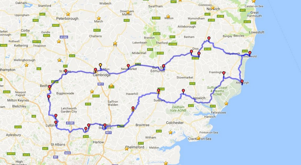 Iceni Rally Planed Route