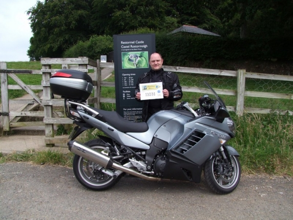 Andy and his Kawasaki GTR1400 at Restormel Castle