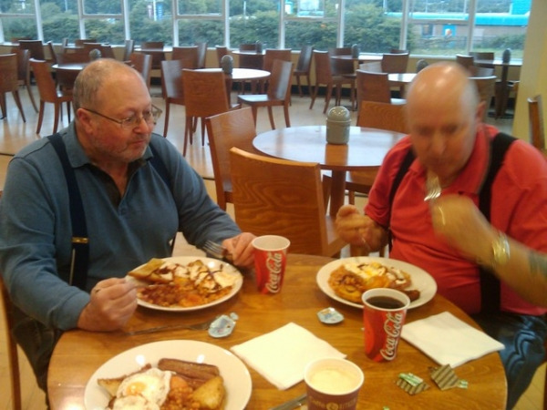 Breakfast at Blackpool Services