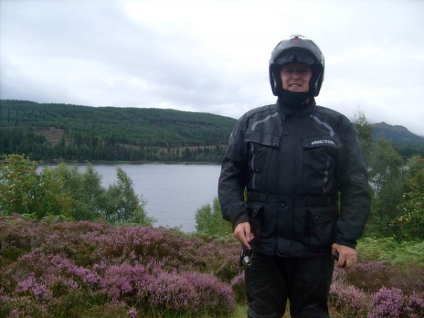 Bonzo next to Loch Ness