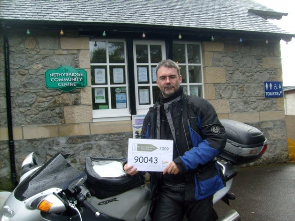 Rig and his Honda Blackbird in the Cairngorm National Park