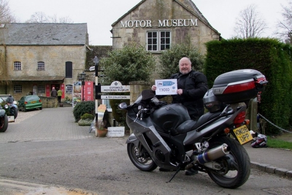 Bob outside the Cotswold Motoring Museum