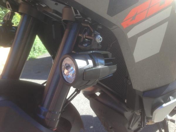 KTM Auxiliary Lamp Kit on Steve's KTM 1190 Adventure