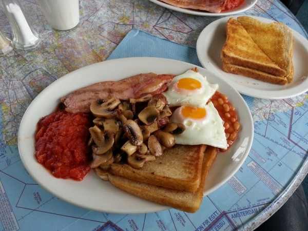 Touchdown Cafe Full English breakfast