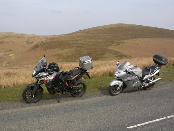 Steve's KTM 1190 Adventure and Bonzo's Honda Blackbird
