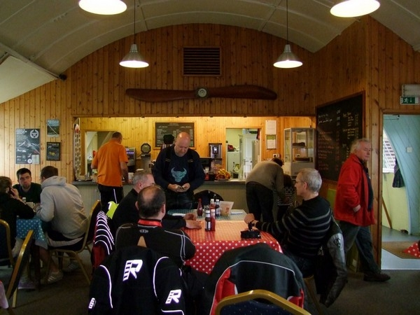 Inside Shobdon Airfield Cafe