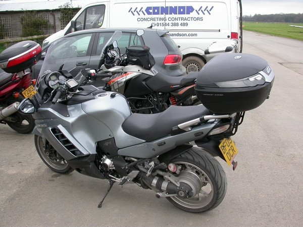 Andy's Kawasaki GTR1400 at Shobdon Airfield