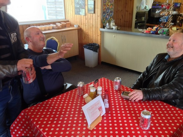 Inside Shobdon Airfield Cafe