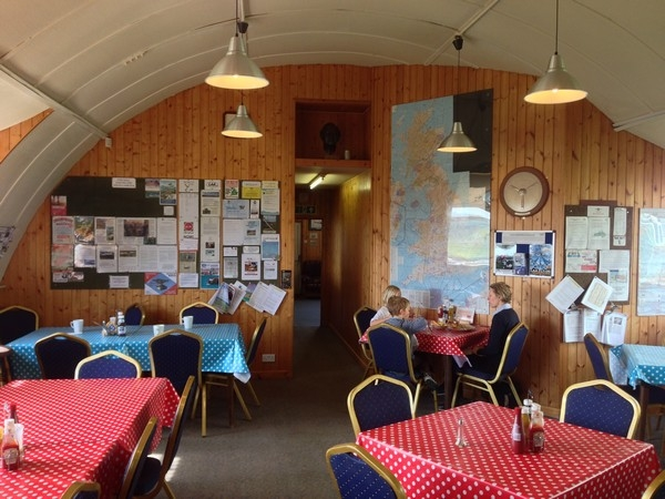 Inside Shobden Airfield Cafe
