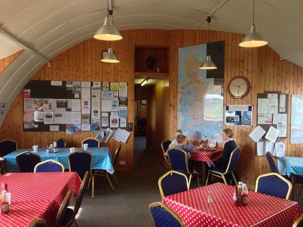 Inside Shobden Airfield Cafe