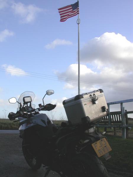KTM 1190 Adventure outside Santa Pod