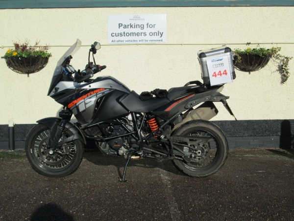 KTM 1190 Adventure outside the Three Horseshoes pub