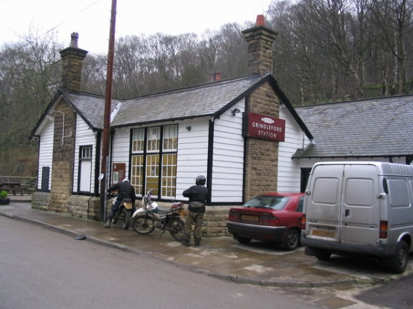 Outside Grindleford Station Cafe