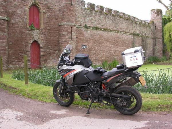KTM 1190 Adventure outside Bollitree Castle