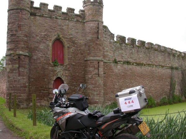 KTM 1190 Adventure outside Bollitree Castle