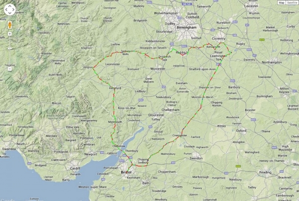 17th May 2014 - Route