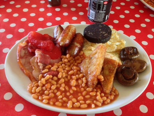 Lysander breakfast at Shobdon Cafe