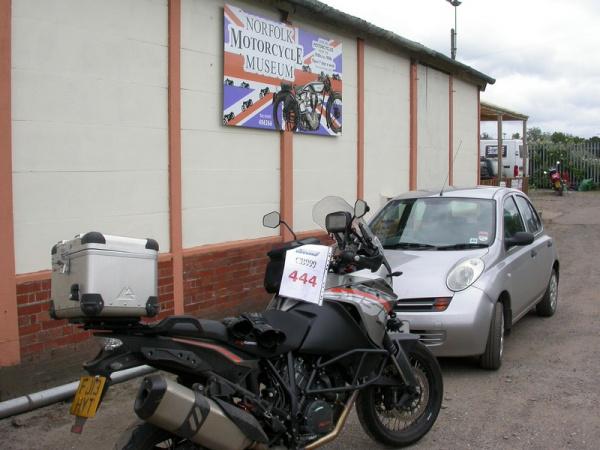 KTM 1190 Adventure outside the Norfolk Motorcycle Museum