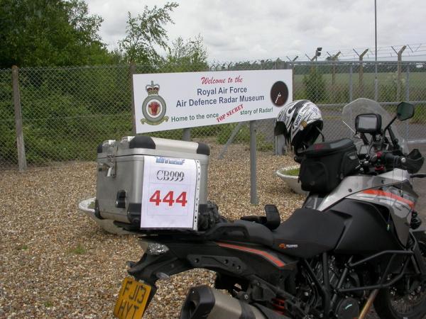 KTM 1190 Adventure outside RAF Air Defence Radar Museum