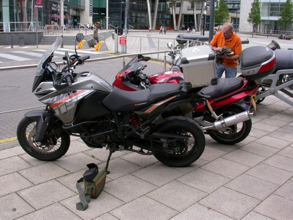 KTM 1190 Adventure outside the Royal Armouries Museum
