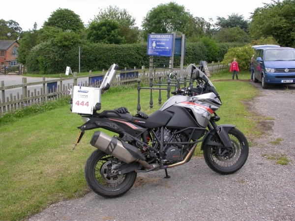 KTM 1190 Adventure near Belvoir Castle