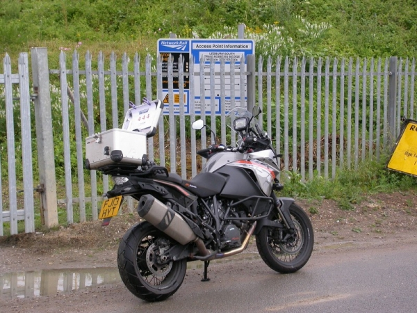 KTM 1190 Adventure at Bridego Bridge, location of the 1963 Great Train Robbery.
