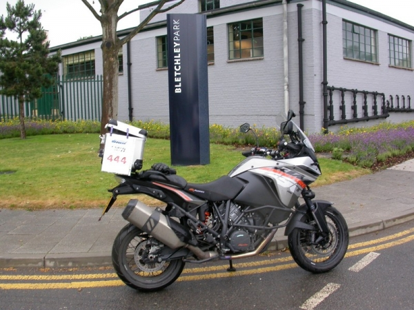 KTM 1190 Adventure outside Bletchley Park