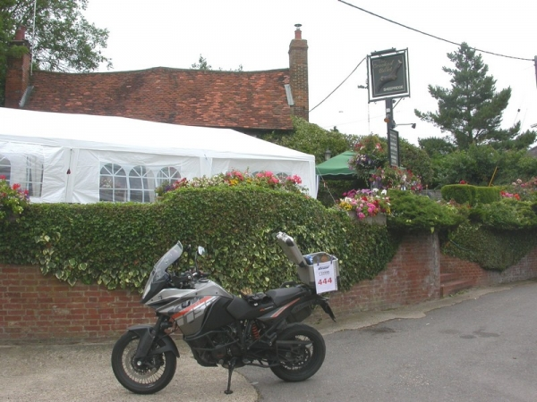 KTM 1190 Adventure outside the Crooked Billet Pub