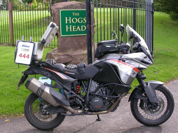 KTM 1190 Adventure at the Hogs Head Pub