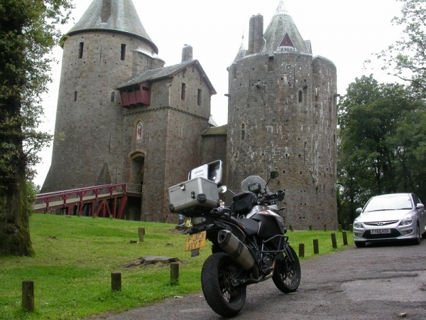 KTM 1190 Adventure at Castle Coch