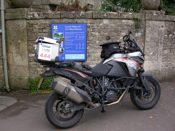 Steve's KTM 1190 Adventure at Lacock Abbey
