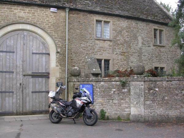 Steve's KTM 1190 Adventure at Lacock Abbey