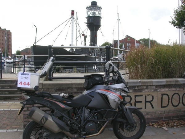 Steve's KTM 1190 Adventure at the Spurn Lightship in Kingston upon Hull