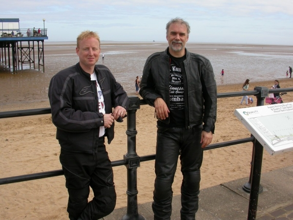 Neil and Rig in Cleethorpes