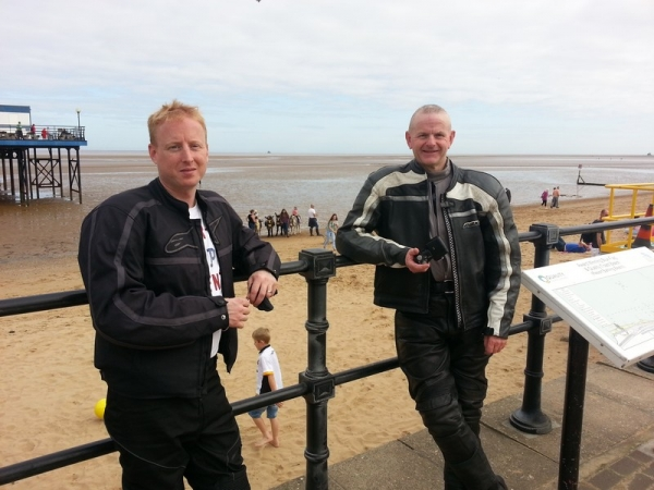 Neil and Steve in Cleethorpes