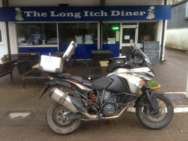 Steve's KTM 1190 Adventure at The Long Itch Diner